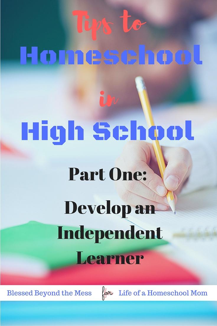 The key to homeschooling in high school is to develop your student to be an independent learner.