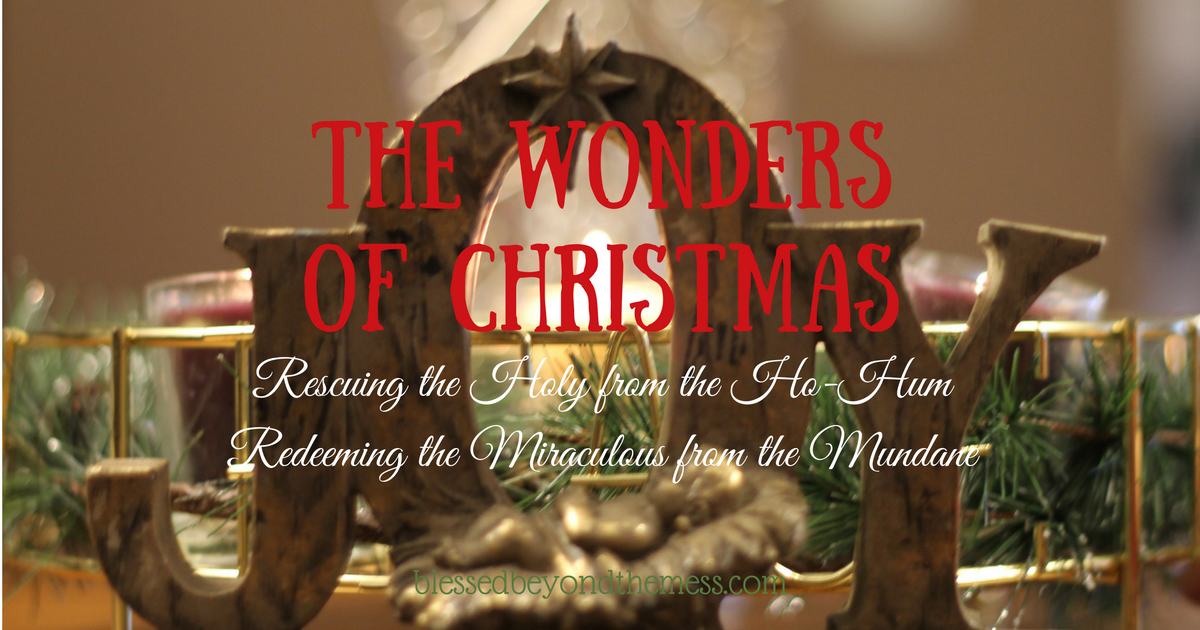 The Wonders of Christmas: Rescuing the Holy from the Ho-Hum and Redeeming the Miraculous from the Mundane